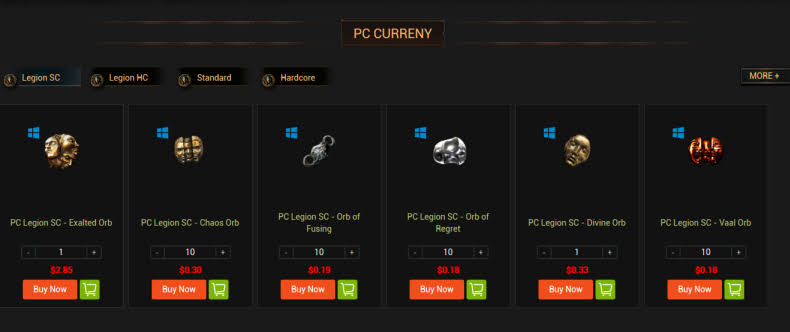 Buy PoE Currency With Aoeah Coupon